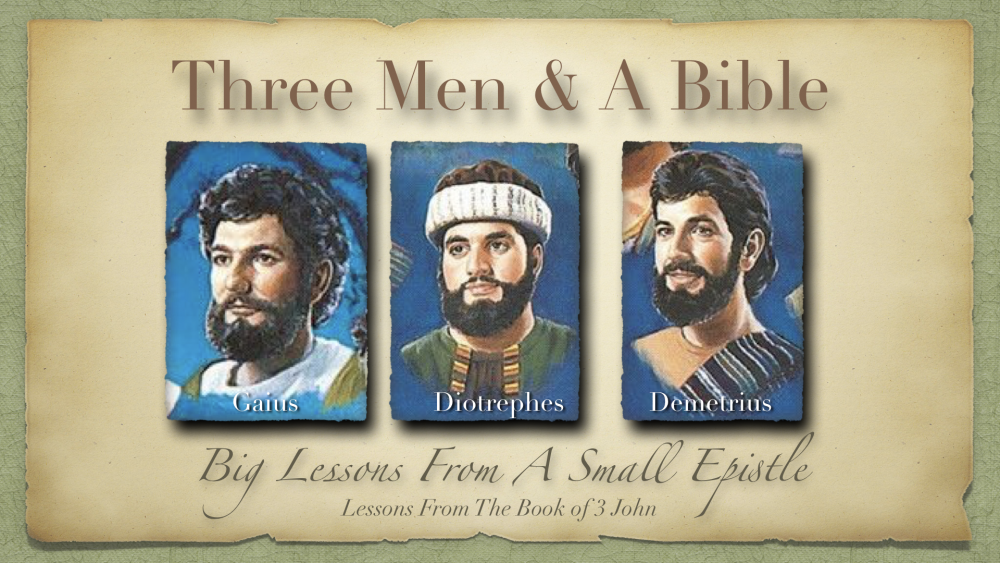 3 Men and a Bible Image