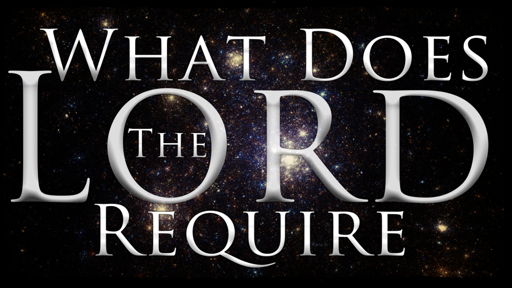 What Does the Lord Require? Image