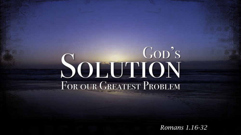 God's Greatest Solution For The Greatest Problem Image