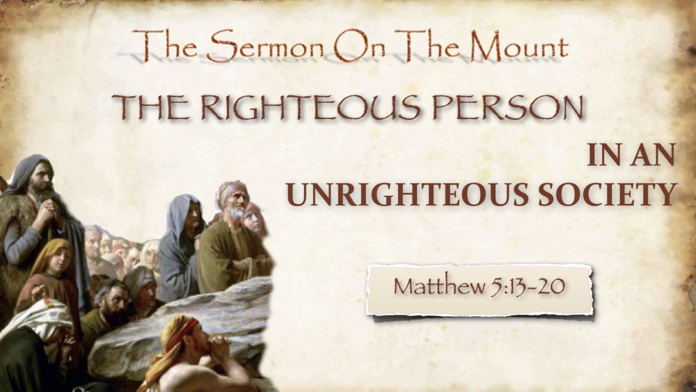 The Righteous Person in an Unrighteous Society Image
