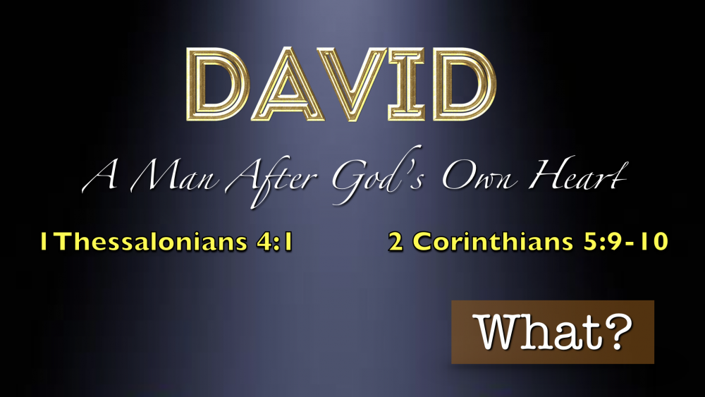 David A Man After God\'s Own Heart