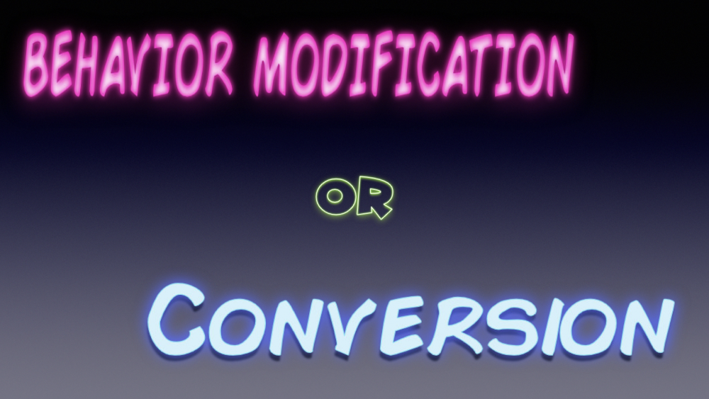 Behavior Modification or Conversion